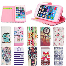 Vintage Fashion Magnetic Flip Leather Wallet Case Cover For iPhone 4 4S 5 5S 5C