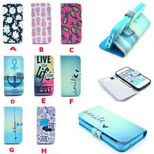 US Ship Patterned Folio Flip Wallet Stand Leather Case Cover For iphone 4G 5G 5C