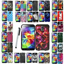 For Samsung Galaxy S5 i9600 Cool New Designs Hard Case Phone Cover + Stylus