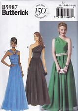 Butterick Easy Sewing Pattern Misses' Evening Prom Lined Dress Sizes 8 -24 B5987