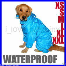 Waterproof Pet Dog Coat Jacket Hoodie Vest Reflective Raincoat Clothes XXS-XXL