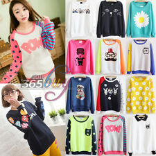Women's Cotton Loose Casual Fleece pullover Sweater Sweatshirts Tracksuits Tops