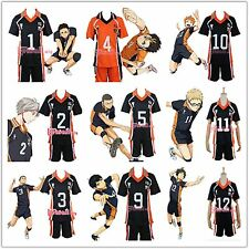 Haikyuu!! Hot Anime! Karasuno High School Uniform Jersey Cosplay Costume M-XXL