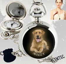 PERSONALISED, CUSTOM YOUR PHOTO, PETS, DOG LADIES FASHION NECKLACE PENDANT WATCH