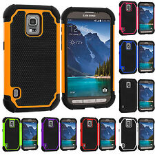 For Samsung Galaxy S5 Active Hybrid Rugged Shockproof Matte Case Cover