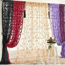 Hot Door Window Curtain Butterfly Style Valance Room Curtain Divider Scarf Panel