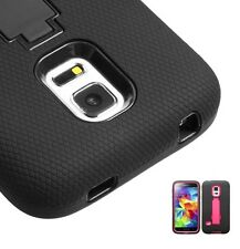 Hard Case +Rugged Silicone Protector Case w/Stand for Samsung Galaxy S5 Mini