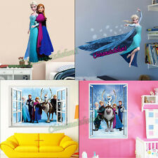 Hot Removable Wall Sticker Frozen Elsa/Anna Decal Kids Bed Room Home Decor Gift