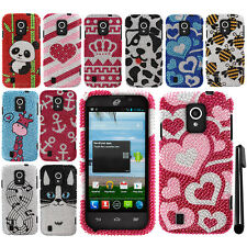 For ZTE Majesty Z796C Source N9511 BLING DIAMOND HARD Case Cover Phone + Pen