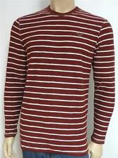 American Eagle Outfitters AEO Mens Red Heavyweight Crew Long Sleeve Shirt NWT