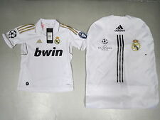 ADIDAS Kids Soccer Jersey T-Shirt REAL MADRID Home Tricot UCL 11/12 UK9-16 New