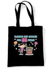 BLOWING OUT CANDLES FOR 68 YEARS SHOPPING  TOTE BAG 68th Birthday Present Gift