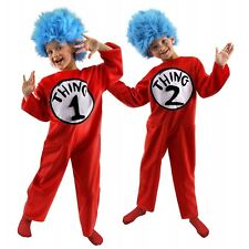 Thing 1 and Thing 2 Costumes Kids Halloween Thing One and Thing Two Fancy Dress