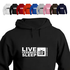 Tv Advertising Marketing Gift Hoodie Hooded Top Live Breathe Sleep Advertising