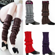 2014 Fashion Women's Winter Crochet Knitted Boot Cover Leg Warmers Legging Sock