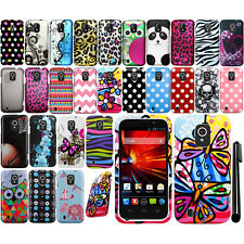 For ZTE Source N9511 Majesty Z796C Design PATTERN HARD Case Cover Phone + Pen