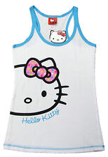 Sanrio Hello Kitty Juniors White Tank Top Pajama Shirt
