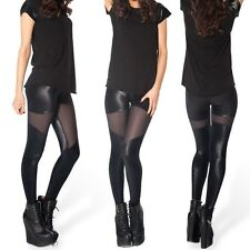 New Sexy Womens Skinny Spartans Sheer Leather Leggings Pants Tights Wholesale