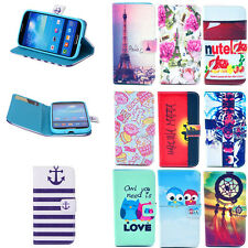 Stand Hybrid Leather Wallet Cover Case For Samsung Galaxy Trend Plus S7580 S7582