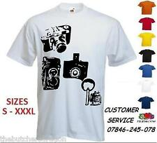 Mens Paparazzi Camera Photo T Shirt Custom Funny Print Design UK T-shirt