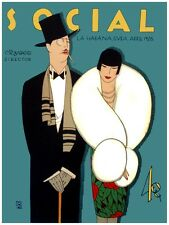 7079.Social.Man and woman well dressed ready for gala.POSTER.art wall decor