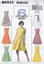 Butterick Sewing Pattern Misses Dress Close Fitting Bodice sizes 6 -22 B4443