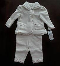 NWT Ralph Lauren Infant Girls 2-Piece Fleece Hoodie and Pant Set 3m 6m 9m NEW 5c