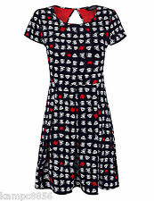 New M&S Ltd Collection Navy Red & White Tea Cup Printed Dress Sz UK 10 12 14