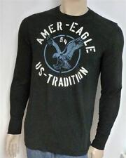 American Eagle Outfitters AEO 54 Mens Black Vintage Fit Long Sleeve T-Shirt NWT