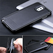 Super Luxury Aluminum Cow Leather Case Cover For Samsung Galaxy Note 3 III N9000