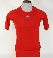 Adidas ClimaLite TechFit Red Short Sleeve Compression Athletic Shirt Mens NWT