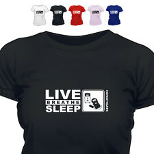 Paranormal Ghost Hunter Emf Gift T Shirt Eat Live Breathe Sleep  Investigate