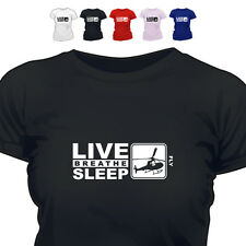 Helicopter Pilot Gift T Shirt Eat Live Breathe Sleep Fly
