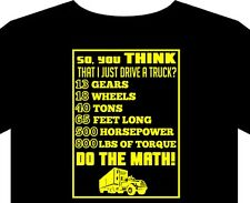Mens T Shirt S-5XL Trucks scania peterbilt mack kenworth daf do the math man cap