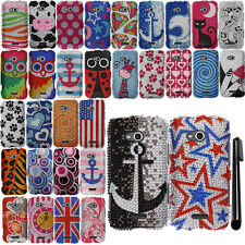 For Samsung Galaxy Victory 4G Gogh DIAMOND BLING HARD Case Phone Cover + Pen