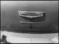 7268.Old vintage chevrolet. back of car.dirty trunk door.POSTER.art wall decor
