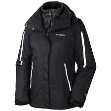 New Womens Columbia Bugaboo Black 3 in 1 Interchange Jacket Coat S M L XL