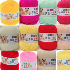 Wholesale Soft Natural Bamboo Cotton Smooth Knitting Yarn Fingering 18 Colors