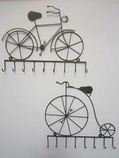 BIKE PENNY FARTHING KEY HOOKS IRON WALL KITCHEN COUNTRY COTTAGE HALL HOME RUSTIC