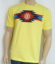 Element Tribal Graphic Tee Mens Yellow 100% Cotton T-Shirt New NWT
