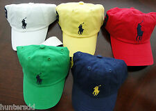 NWT Ralph Lauren Toddler Boys Classic Chino Big Pony Hat 2/2t 3/3t 4/4t NEW