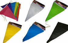 Solid Colour Flag Party Bunting - 10M PVC - choice of 7 colours