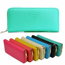 Fashion Womens Ladies New Clutch Zipper Leather Long Wallet Card Purse Handbag