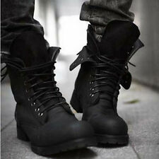 New Retro Combat boots Winter England-style fashionable Men's short Black shoes