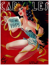 7737.Carteles.Woman with calendar wrapped around her body.POSTER.art wall decor