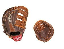 "New Rawlings GGLFM18 baseball firstbase leather glove 12.5"" RHT right mitt gold"