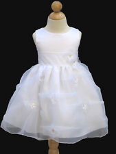 New, Baby Baptism,  Dress, White, Size: Large