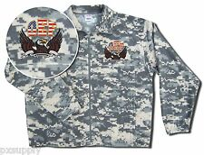 military fleece jacket acu digital camo oef eagle embroidery ykk zipper
