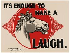 7888.Horse laughing.it's enough to make a horse laugh.POSTER.art wall decor
