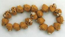 "Hand Painted Ceramic Beads, 3/8"" Labrador Head Design, New"